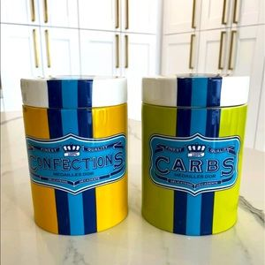 Jonathan Adler Carbs and Confections canisters